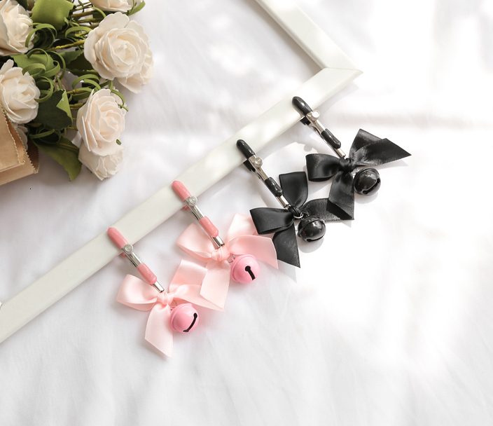 Submissive Sissy Nipple Bell Clamps